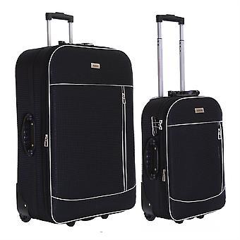Slimbridge Rennes Set de 2 valises extensibles, noir