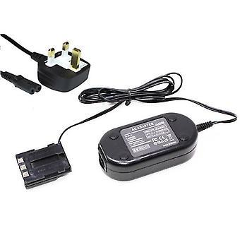 Dot.Foto erstatning Canon ACK-700 AC Adapter Kit - CA-PS700 AC innlagt strøm Adapter & DR-700 DC Coupler - leveres med UK 3-pin nettkabelen [se beskrivelse for kompatibilitet]