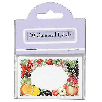 Traditional Gummed Rectangle Preserve Labels, Pack of 20