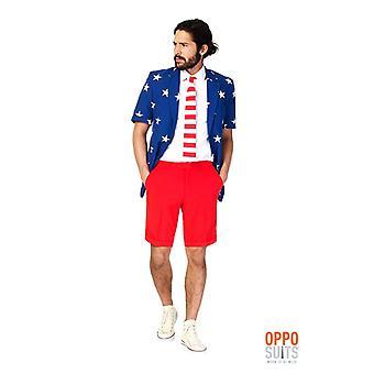 Opposuit United stripes America USA summer suit slimline Premium 3-piece EU SIZES