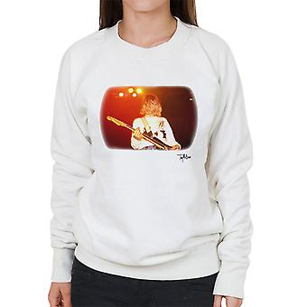 Kurt Cobain Gitarre Live weiße Damen Sweatshirt