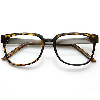 Ontwerper geïnspireerd duidelijk Lens hoorn omrande stijl bril met metalen armen