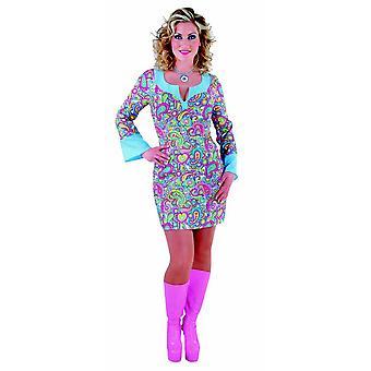 Trajes de mulheres mulheres feliz vestido de menina de discoteca