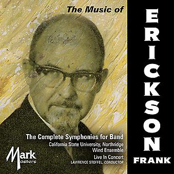 Erickson / Northridge Wind Ensemble California - Erickson: Complete Symphonies for Band [CD] USA import