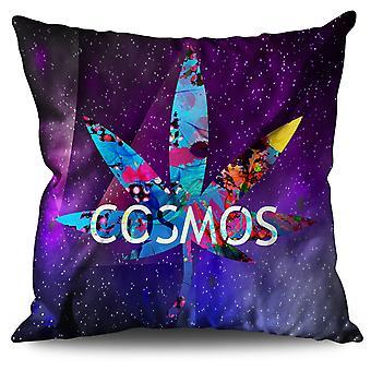 Cosmos Weed Leaf Rasta Linen Cushion 30cm x 30cm | Wellcoda
