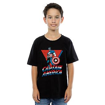 Marvel Boys Captain America Standing T-Shirt