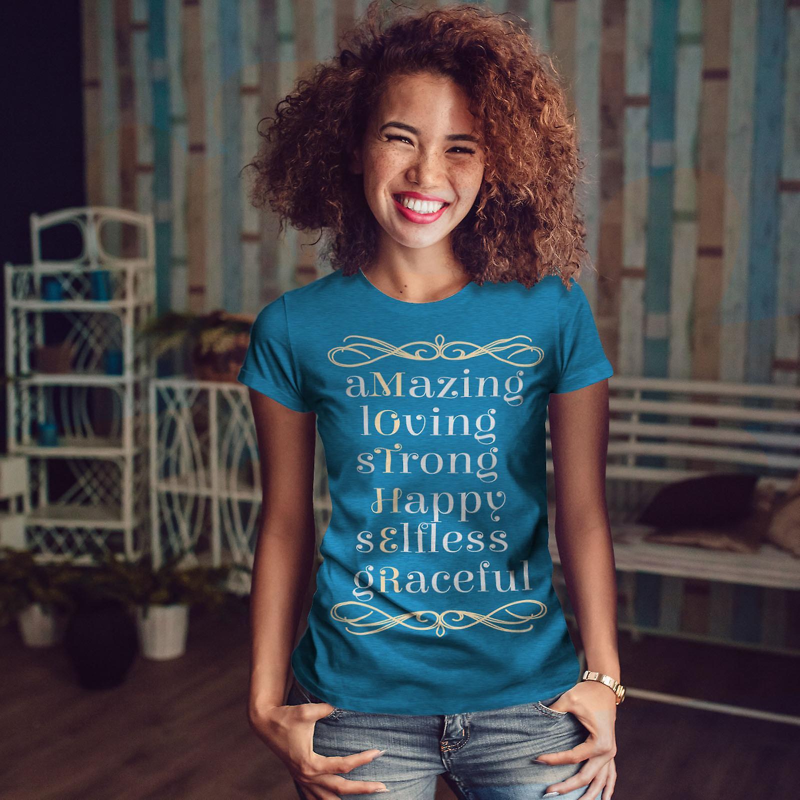 Femmes de Collage mère Royal BlueT-chemise | Wellcoda