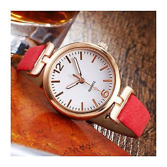 Mesdames cadran clair Petit Quartz montre avec VPPINBOPINK1 de courroie en cuir d'unité centrale