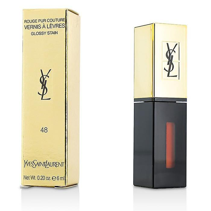 Yves Saint Laurent Rouge Pur Couture Vernis A Levres Glossy Stain - # 48 Orange Graffiti - 6ml/0.2oz