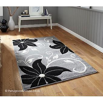 Menia grau schwarz Teppich