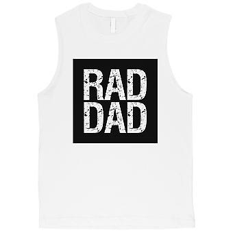 Pai de RAD Mens branco camisa de músculo