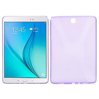 Custodia in silicone viola per Samsung Galaxy tab A 9,7 T550 T551 T555 N