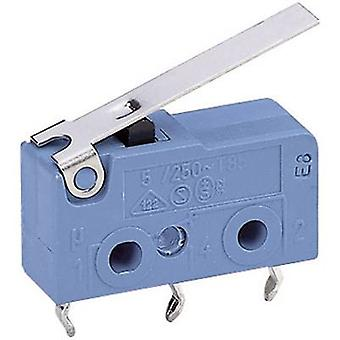 Marquardt Microswitch 1050.7202 250 V AC 5 A 1 x On/(On) momentary 1 pc(s)