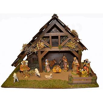 Seimi syntymä joulu Kristuksen syntymä vakaa ELIAS puinen sänky
