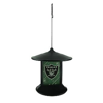 Oakland Raiders Logo Solar Powered Hanging Birdfeeder