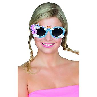 Jednorożec okulary niebieski akcesoriów Rainbow Carnival Carnival