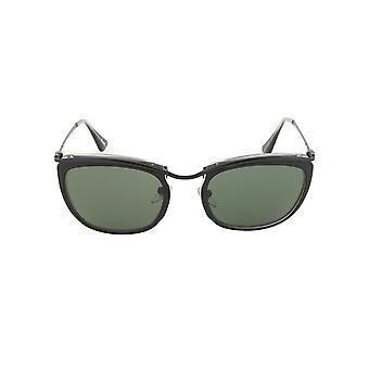 Gafas de sol de Persol PO3081S 1004/31 | Negro y mate marco de cristal | Lente gris