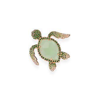 Green brooch with crystals from Swarovski 7112