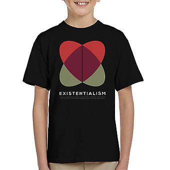 Existentialismus Philosophie Symbol Kinder T-Shirt