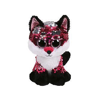 TY lisible bijou rose/noir paillette Fox Beanie