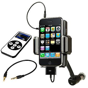 TRIXES FM Transmitter Car Kit with Charger for Apple iPhone 3G 3GS iPod