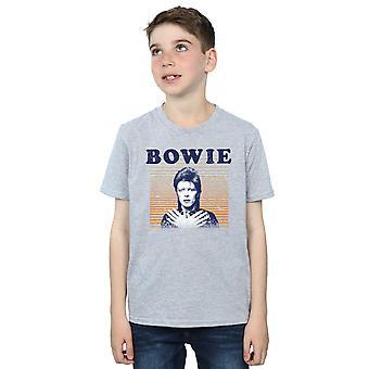 Дэвид Боуи мальчиков оранжевыми полосами футболку