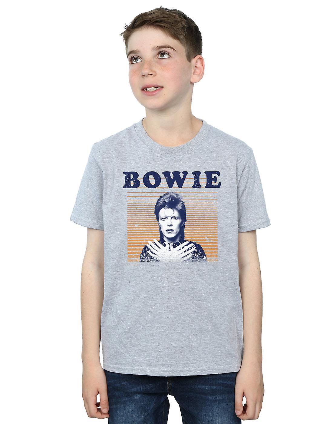 David Bowie Boys Orange Stripes T-Shirt