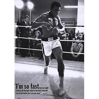 Mohammed Ali Training Poster Print (25 x 36)