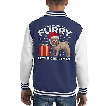 Have Yourself A Furry Little Christmas Dog Kid's Varsity Jacket