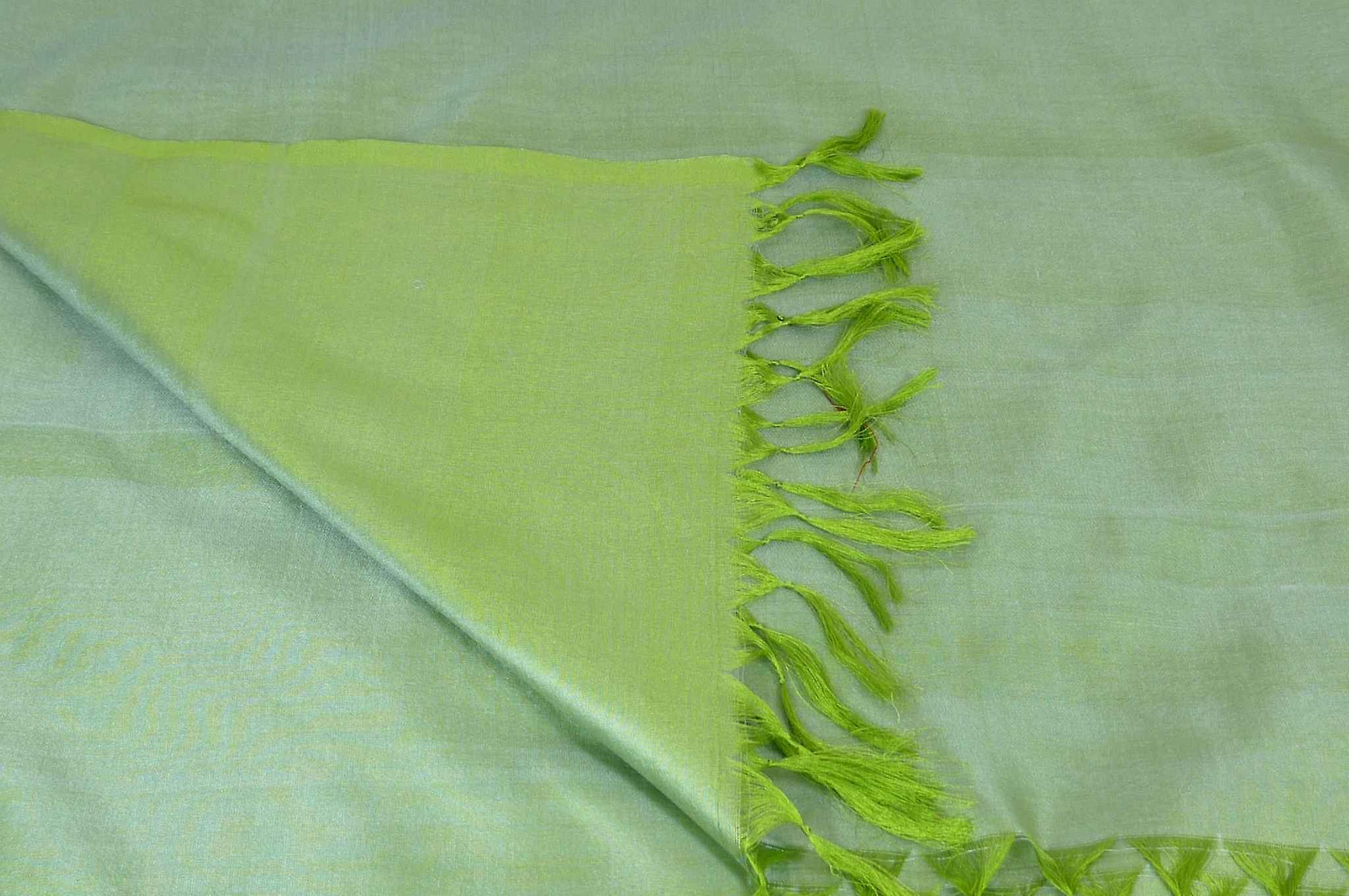 Varanasi Silk Long Scarf Heritage Range Prasad 2 Apple by Pashmina & Silk