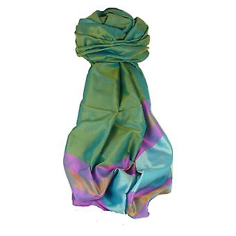 Varanasi Border Prime Silk Long Scarf Heritage Dasgupta 518 by Pashmina & Silk