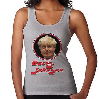 Boris Johnson Retro Photo Frame Women's Vest