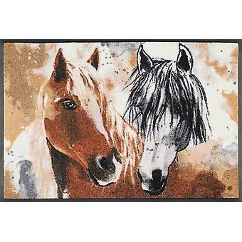 lavagem + gengibre seca esteira & beleza 50 x 75 cm cavalo sujeira lavável mat