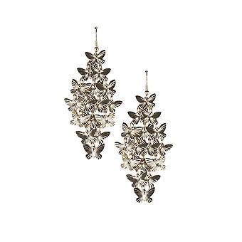Lovemystyle überdimensioniert Gold Ohrringe mit mehreren Schmetterlingen