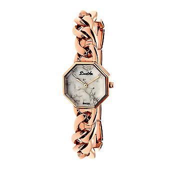 Bertha Ethel senhoras suíço pulseira relógio - Rose Gold