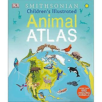Kinder illustrierte Tier Atlas
