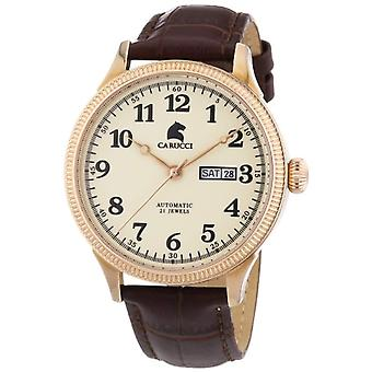 CAPA Watches CA2209RG-men's wristwatch, leather, color: Brown