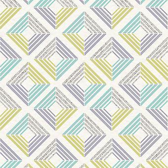 3D Wallpaper Geometric Diamond Glitter Echo Retro Squares Modern Bold Coloroll