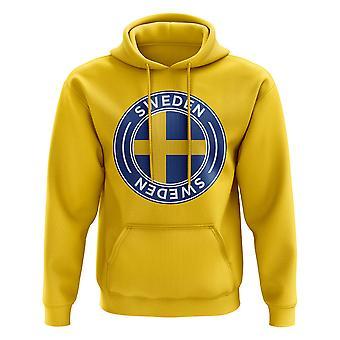 Sweden Football Badge Hoodie (Yellow)