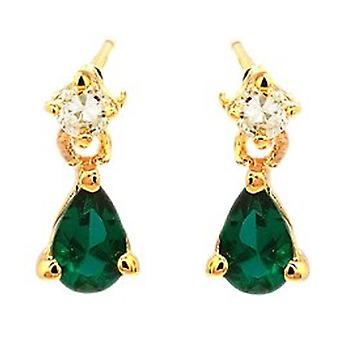 Ah! Jewellery Emerald Pear Crystals From Swarovski Earrings