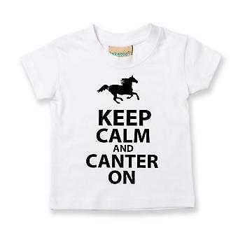 Copii păstrați calm și Canter pe tricou