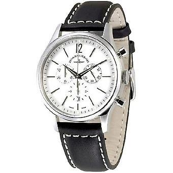 Zeno-relógio mens assistir evento cavalheiro cronógrafo 43 branco Q 6564-5030Q-i2