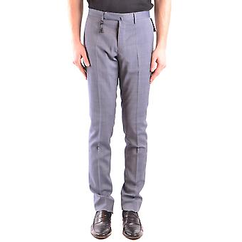 Incotex Ezbc093056 Men's Blue Cotton Pants