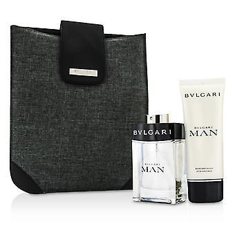 Bvlgari Man Coffret: Eau De Toilette Spray 100ml / 3.4 oz + After Shave Balm 100 ml / 3.4 oz + Bag - 2ST + 1Beutel