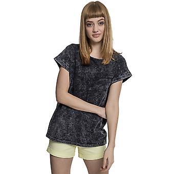החולצה העירונית קלאסיקה נשים טריקו שטיפת הכתף המורחבת