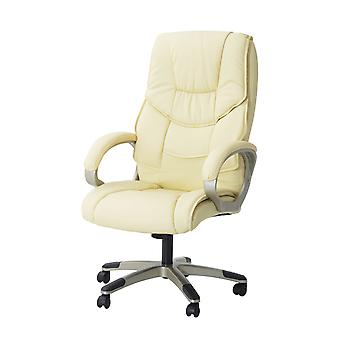 HOMCOM Computer Office Swivel Chair Desk Chair High Back PU Leather Adjustable