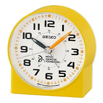 Seiko Novak Djokovic Foundation Alarm Clock Plastic-Yellow (QHE907Y)