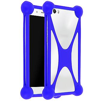 Mocca Silicone Anti Shock Universal Protection Smartphone Blue