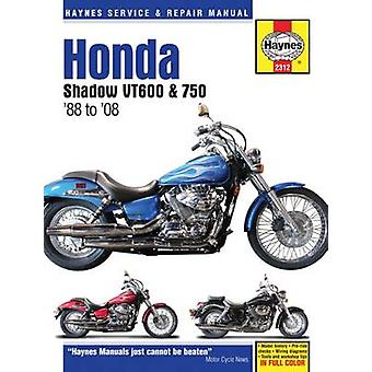 Honda Shadow VT600 & 750 Motorcycle Repair Manual - 1988-14 (2nd Revis