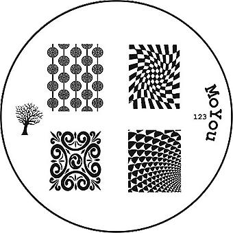 MoYou Round Stamping Nail Art Image Plate - Optical Design - 123